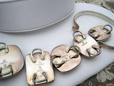 Vintage Sterling Silver Los Ballertos Stone by VintagObsessions