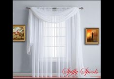 Shop custom sheer window curtains and panels here at Spiffy Spools. Choose window sheers from over 1000 fabrics including white curtain panels and much more. Window Sheers, White Sheer Curtains, Sheer Curtain Panels, Blackout Curtains, Drapes Curtains, Decorating Your Home, Palette, Bright, Free Shipping