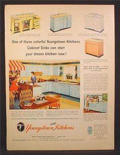 Youngstown Kitchen Ad Kitchens Vintage And Vintage Kitchen - Kitchen ad