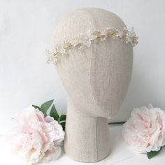 Gold wedding hair vine - 'Delia'