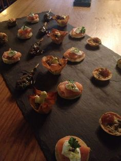 Small canapé selection from the kitchens at Maunsel House