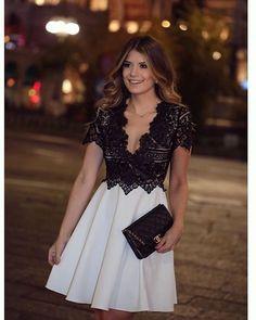 Lace Prom Dress,Short Sleeve Prom Dress,Fashion Prom Dress,Sexy Party Dress,Custom Made Evening Dress
