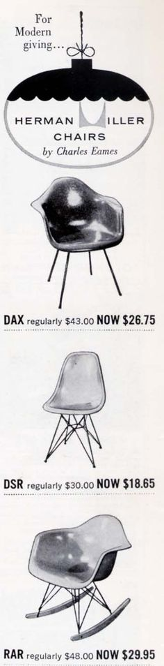 great prices back then...Herman Miller-period.