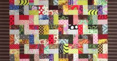 """""""Attic Stairs"""" is one of the quilt patternsin my new book. It's a no-thinking-required scrap-buster. As you generate scraps from other pro..."""