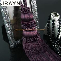 2pcs Multi Color Optional Decorative Curtain Tassels High Quality Tieback For Curtains American Style Curtain Accessories DCT622