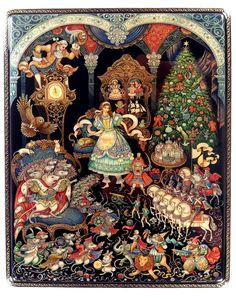 Christmas Illustration, Illustration Art, Party Vintage, Russian Folk Art, Mandala, Russian Painting, Fairytale Art, Naive Art, Christmas Art
