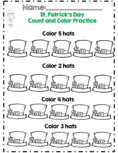 kdg st patricks day math and ela activities cc aligned - St Patricks Day Pictures To Color 2