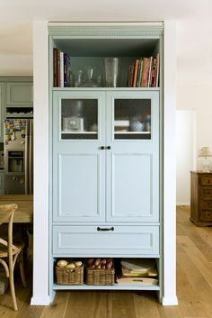 I like the little windows Furniture Update, Furniture Makeover, Upcycled Furniture, Diy Furniture, Tall Cabinet Storage, Locker Storage, Out Of The Closet, Cozy House, Home Interior Design