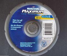 Mastercraft Maximum Thin Cut-off Wheel Set 20 Pieces Total Item 054-1052-2 #MastercraftMaximum