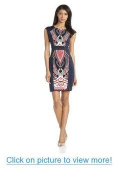 Sandra Darren Women's Printed Panel Techno Dress #Sandra #Darren #Womens #Printed #Panel #Techno #Dress