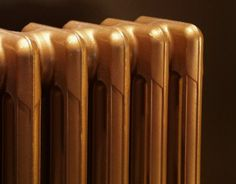 Re-using old radiators and making them gorgeous again! Metal paint refurbished for an Edwardian House we did. #interiordesign