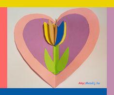 Anyák napi szívbe zárt tulipán