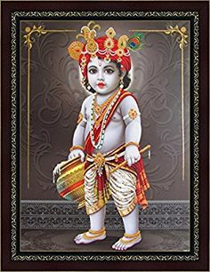 Avercart Textured Lord Krishna/Baby Krishna/Bal Gopal Poster With Frame Bal Krishna, Shree Krishna, Lord Krishna, Wedding Album Design, Wedding Albums, Bal Gopal, Special Prayers, Worship The Lord, Good Morning Greetings