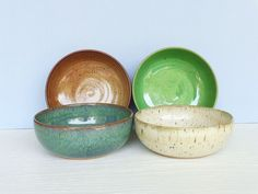 Instant Collection Stoneware Pottery Bowl Set - 4 Bowls - 4 Glazes on Etsy, $64.00