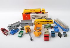 WIKING Konvolut Modellautos, u.a. großer SHELL-Tankzug, Postbus Pullmann, Panoramabus Büssing, tl Post Bus, Wiking Autos, Nerf, Nostalgia, Scenery, Models, Toys, Scale Model Cars, Model Train