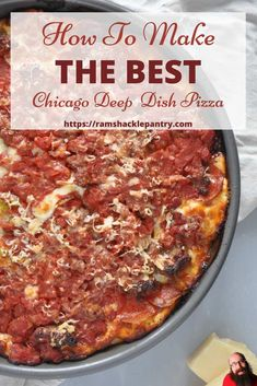 This Chicago Deep Dish is the best recipe there is and it is easy. So, make your family happy today and make this pizza! #pizza #chicago #deepdish via @ramshacklepantr