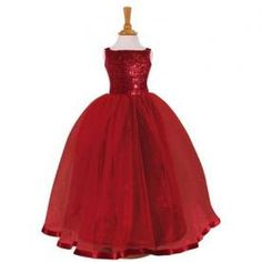 Jubilee - Gorgeous red sequin ball gown / dress for girls