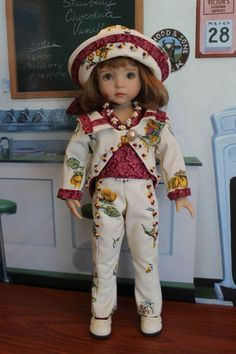 """SATURDAY'S SAILOR"" Ensemble for your Effner 13"" Little Darling Doll #DiannaEffner"