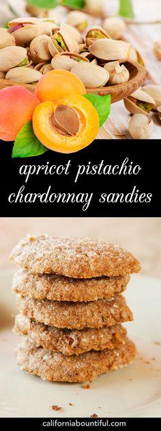 Apricot pistachio chardonnay sandies #DessertRecipe #Recipe # ...