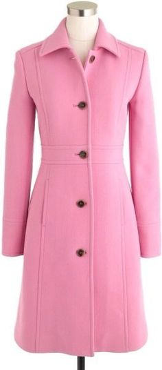 J Crew Double Cloth Lady Day Coat Retro Pink Size 4 Petite Thinsulate NEW! #JCrew #BasicCoat