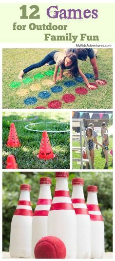 Playing games is an excellent way to have fun with your family. And games get everyone outside exercising. Play these games in your backyard, at a park, on the beach, on a camping trip, wherever. So pack 'em up and head on out! Perfect for Family Fun Night!