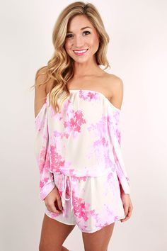 This off the shoulder cutie is so vibrant and pretty! Pair it with wedges and a glam necklace. It's perfect for your next beach vacation, so don't hesitate before you snag this one! Features a drawstring waist and partial lining. Off Shoulder Blouse, Off The Shoulder, Work Uniforms, Down Hairstyles, Style Guides, Lana, Spring Fashion, Floral Tops, Cute Outfits