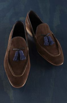 Handmade Men brown suede leather shoes moccasins slip ons casual formal shoes #Handmade #Moccasins