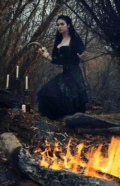 dark forest woman. Witch. Sorceress.
