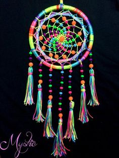 Mystic UV Reactive Colourful Dreamcatcher