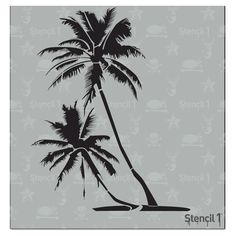 This Stencil1 Palm Trees stencil is the perfect icon of summer. Add a tropical vibe to your clothing or use for your pool party invites. Layer with another Stencil1 stencil for a more complex design. Made of mylar, this stencil is washable, reusable and compatible with paints, inks, markers, pencils and more. Can be applied to a variety of materials, including wood, paper, fabric, metal, ceramic, concrete and glass. Show us how you create with Stencil1 by tagging #stencil1 for a chance to be fea Tree Stencil, Stencil Diy, Stencil Designs, Stencils, Tree Wall Art, Tree Art, Palm Tree Drawing, Metal Tree, Tropical Vibes