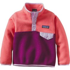 Patagonia - Lightweight Synchilla Snap-T Fleece Pullover - Toddler Girls'…
