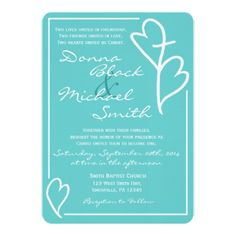 Two Hearts Cross Religious Wedding Invitations - wedding invitations diy cyo special idea personalize card