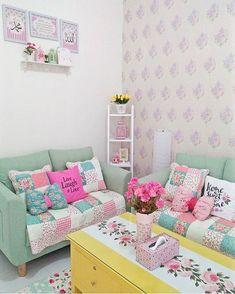 Desain Interior Ruang Tamu Shabby Chic Terbaru