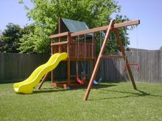 Add on a swingset to your existing wood fort.