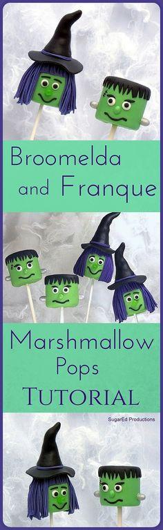 Monster Marshmallow Pops Tutorial