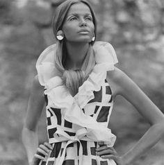 Veruschka photographed by Franco Rubartelli for Vogue, June 1968