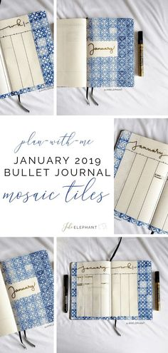 Goodbye Hello Now that its January, I have a brand new mosaic tiles spread! Check out my January 2019 bullet journal spread! Bullet Journal Contents, Bullet Journal Spread, Bullet Journal Layout, Bullet Journals, January Bullet Journal, Find Fonts, Journal Inspiration, Journal Ideas, Planner Tips