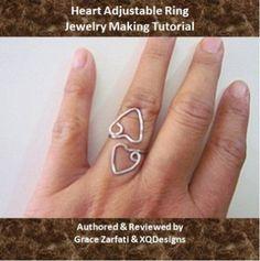 Heart Adjustable Ring Tutorial