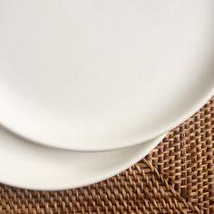 Russel Wright American Modern White Luncheon Plate Steubenville & Russel Wright Bread or Dessert Plate Cedar Green American Modern by ...