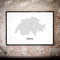 All roads lead to Geneva. http://ift.tt/1mAZs35 #maze #art #interactiveart #print #mazeart #switzerland #geneva #mickallan #poster #framedart #swiss