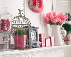 Inspirational Ideas to Help You Decorate a Mantel for Valentine Day - Home and Garden Digest