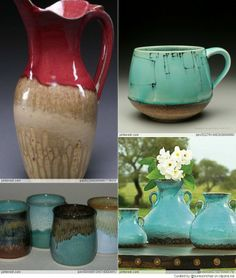 love the turquoise glaze combos