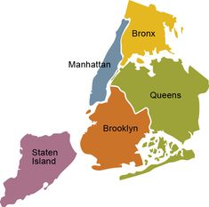 "First thing you should know: these are all called New York City, not just manhattan. These are the five ""Boroughs"""