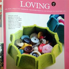 **As seen in Mollie Makes magazine!** Sewing Pattern PDF --For personal use only-- Purchase this listing and you will receive a PDF document with templates and instructions to make your own URCHIN felt nesting bowls. NOTE: To make these bowls, you will need 3mm (or 2mm) thick designer wool