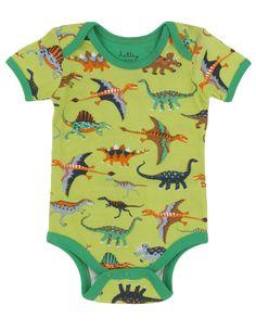 Hatley - Baby Baby-Boys Newborn AOP One Piece-Dinos, Green, 6-12 Months