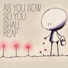 As You Sow so Shall You Reap Essay