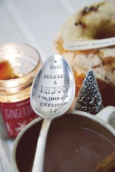 Items similar to Have Yourself a Merry Little Christmas - Large Hand Stamped Vintage Serving Spoon - For Your Christmas Table on Etsy Christmas Time Is Here, Merry Little Christmas, Christmas Love, Christmas Morning, Winter Christmas, All Things Christmas, Vintage Christmas, Christmas Kitchen, Christmas Cookies