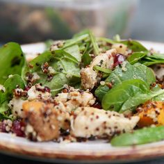 May 2020 - Chicken and quinoa salad is your perfect bulk up meal prep recipe! Chicken Quinoa Salad, Quinoa Salad Recipes, Chicken Salad Recipes, Quinoa Soup, Quinoa Salat, Feta Salat, Clean Eating Snacks, Healthy Eating, Skinny Recipes
