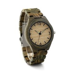 The name says it all. This camo inspired all wooden watch is ideal for outdoorsmen, hunters, environmentalists and nature photographers looking for a functional piece that blends in. But this all wood