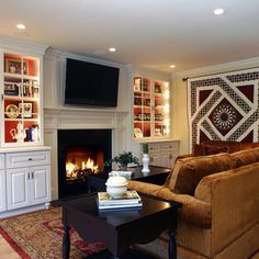 TV Over Fireplace Design, Pictures, Remodel, Decor and Ideas - page 16
